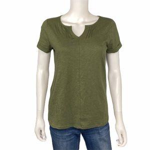 NEW L.L. Bean Green Organic Cotton Shirt SIZE XS